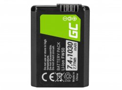 Batterie Green Cell ® NP-FW50 pour caméra Sony Alpha A7 A7S A7R A5000 A5100 A6000 A6300 A6500 RX10 II/III NEX-3, 7.4V 1030mAh