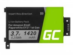 Green Cell ® Batterie 58-000008 pour Amazon Kindle Paperwhite I 2012 Lecteur ebook