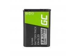 Green Cell ® Batterie EN-EL23 pour Nikon Coolpix B700, P600, P610, P900, S810C 3.7V 1700mAh