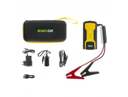 Power Bank Green Cell Jump Starter de voiture 11100mAh avec fonction de démarrage des véhicules + pinces de démarrage