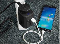 Adaptateur de voyage universel Green Cell ® avec deux ports USB pour prises électriques USA / UK / AUS / Chine
